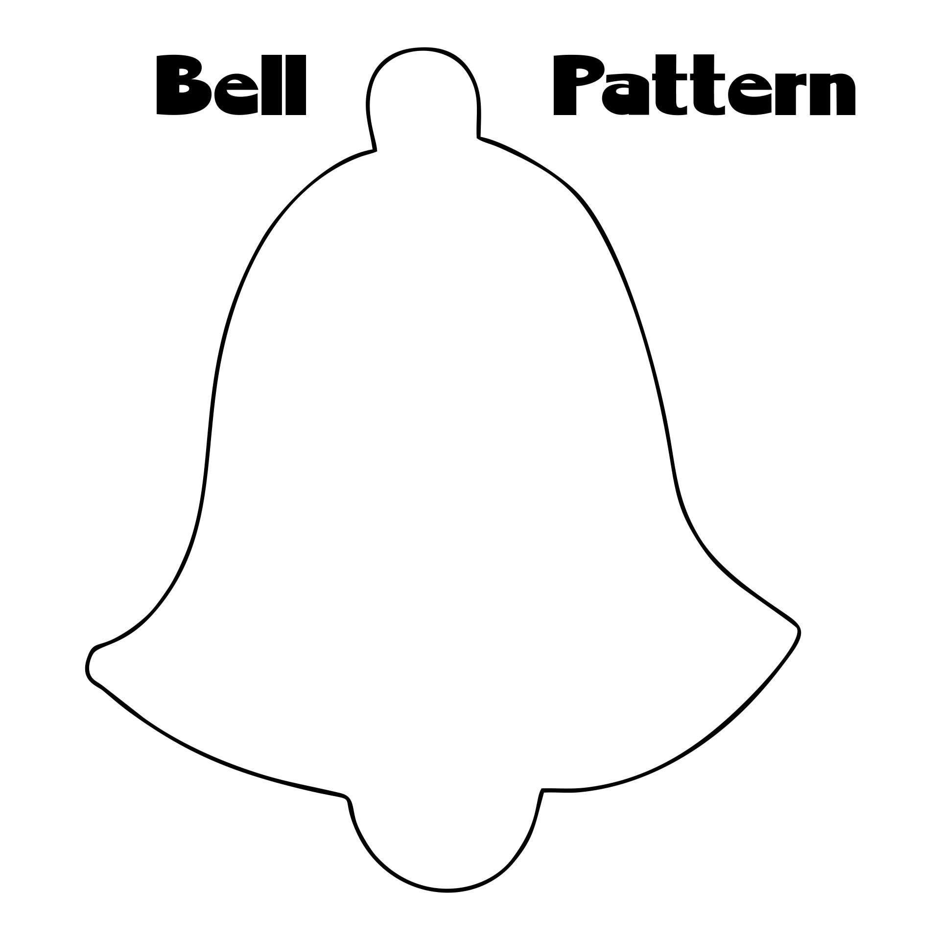 Christmas Bell Pattern Printable