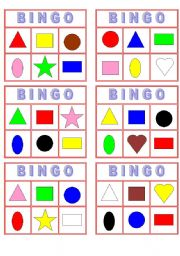 6 Images of Color Bingo Printable Cards