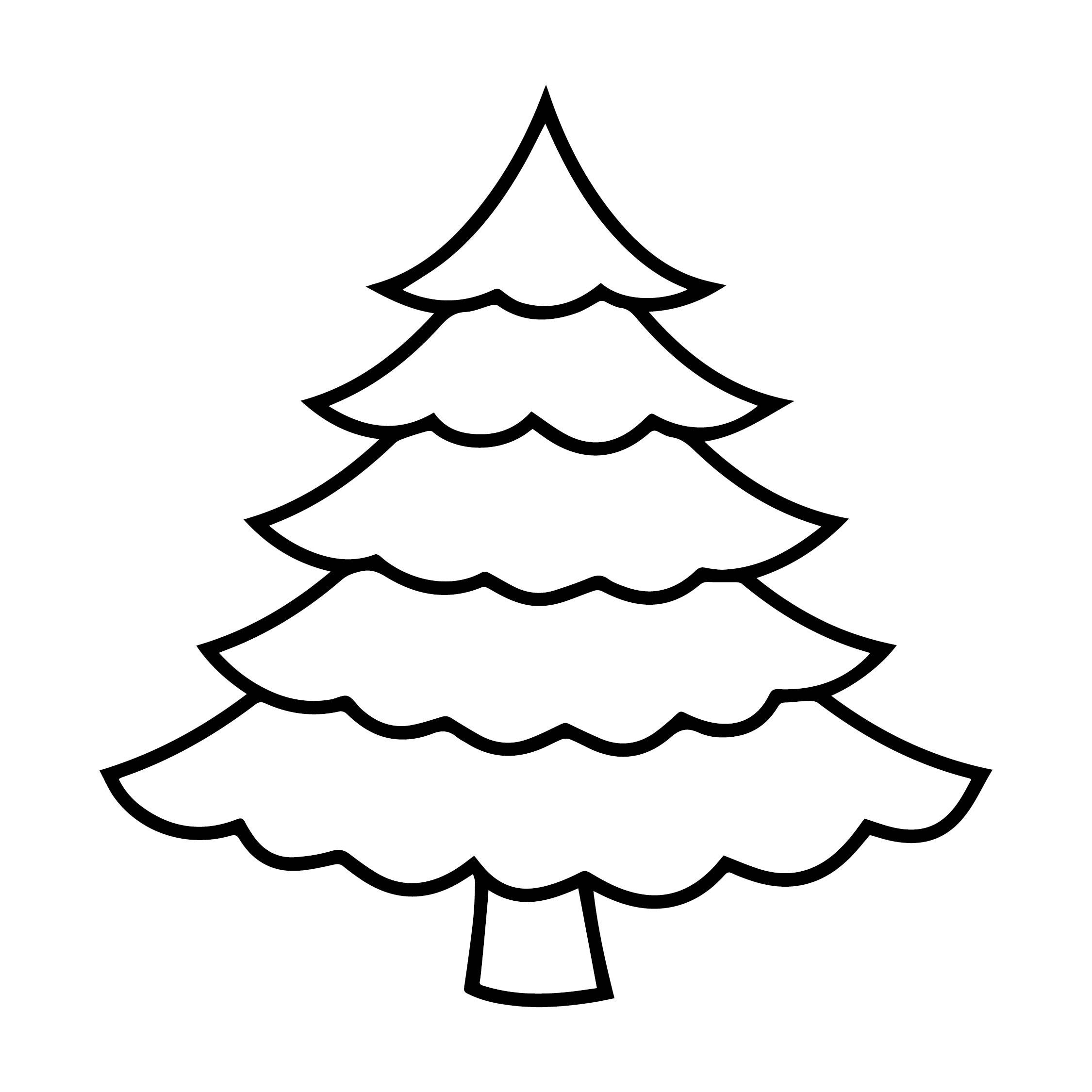Coloring Christmas Tree Clip Art
