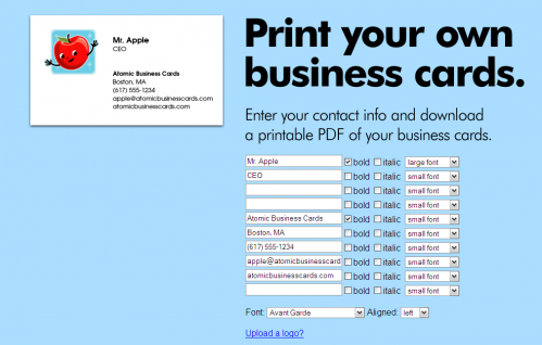 4 Images of Create Free Printable Business Cards Online