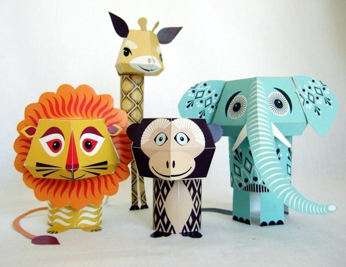 8 Images of Printable Paper Animal Crafts