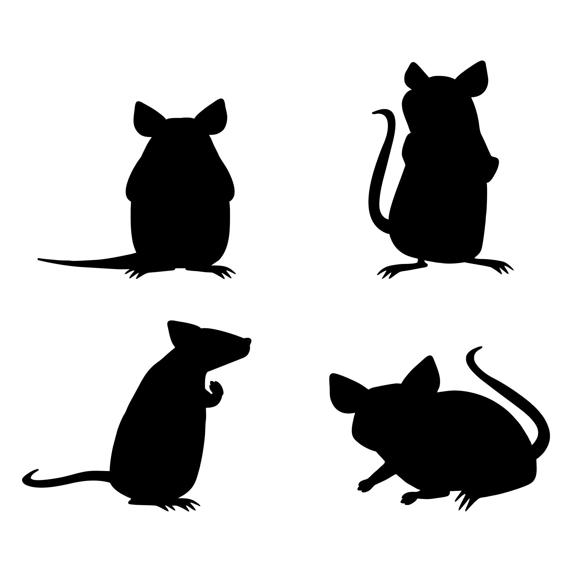 Cute Mouse Silhouette Clip Art