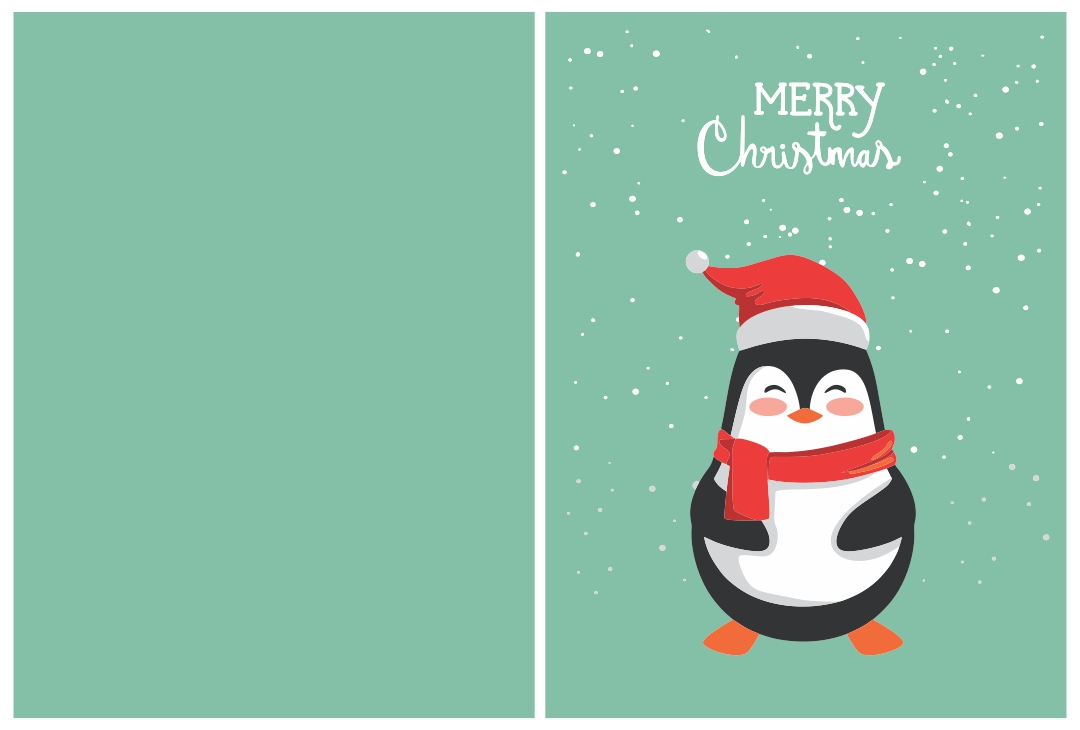 7 Images of Printable Owl Christmas Cards
