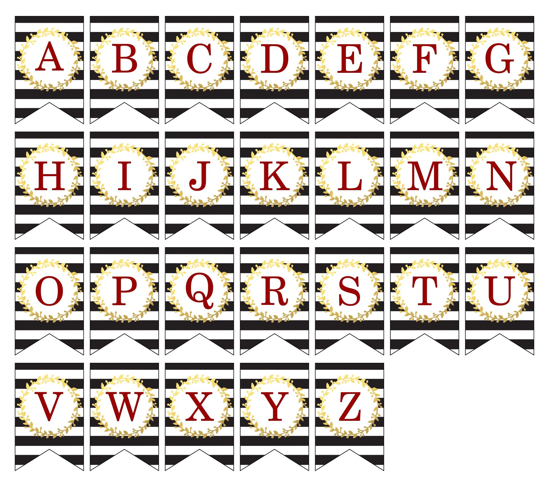 DIY Letters Printable