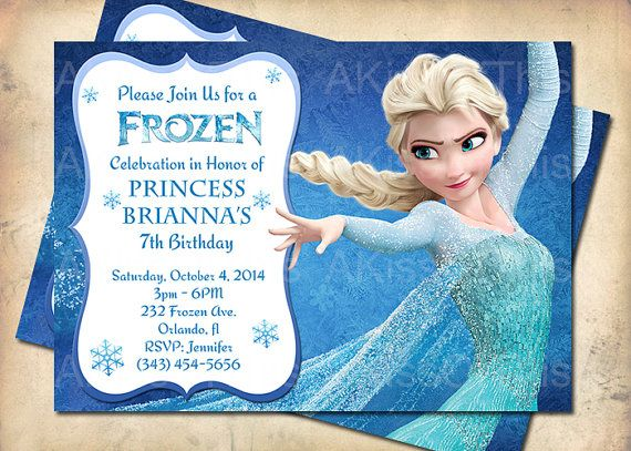 8 Images of Elsa Frozen Birthday Party Invitations Printable