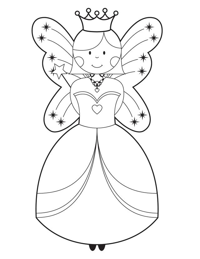 4 Images of Fairy Template Printable