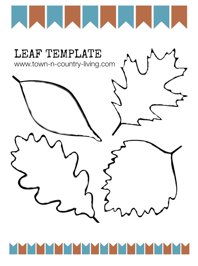 4 Images of Fall Leaf Templates Printable