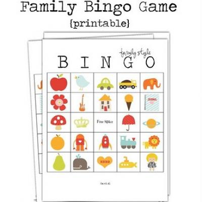 5 Images of Family Bingo Printable Cards