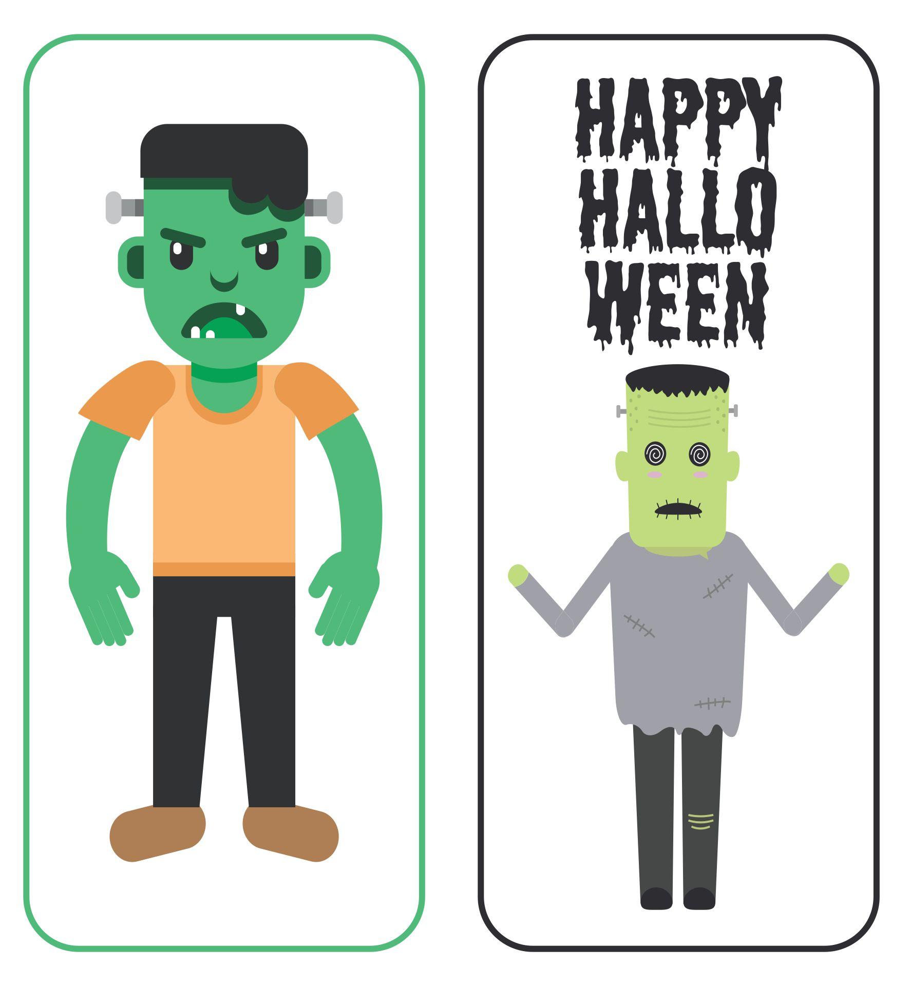 Frankenstein Halloween Printable Bookmarks