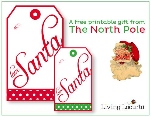 6 Images of Printable Santa Gift Tags Love