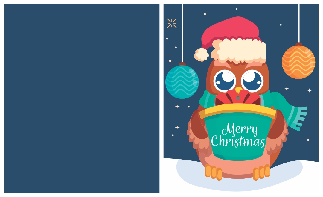Owl Christmas Card Printables