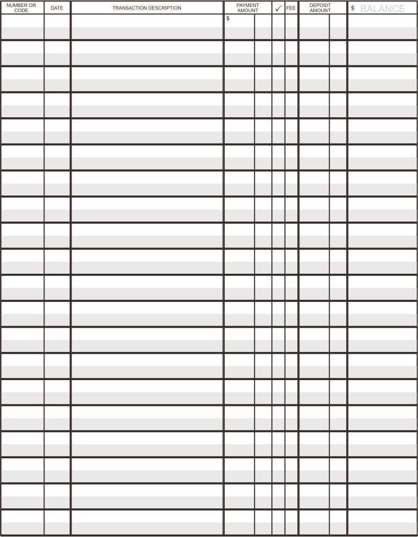 Printable Accounting Ledger Template