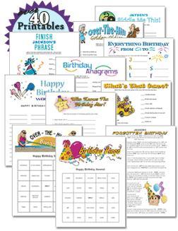 Free Printable Birthday Party Game