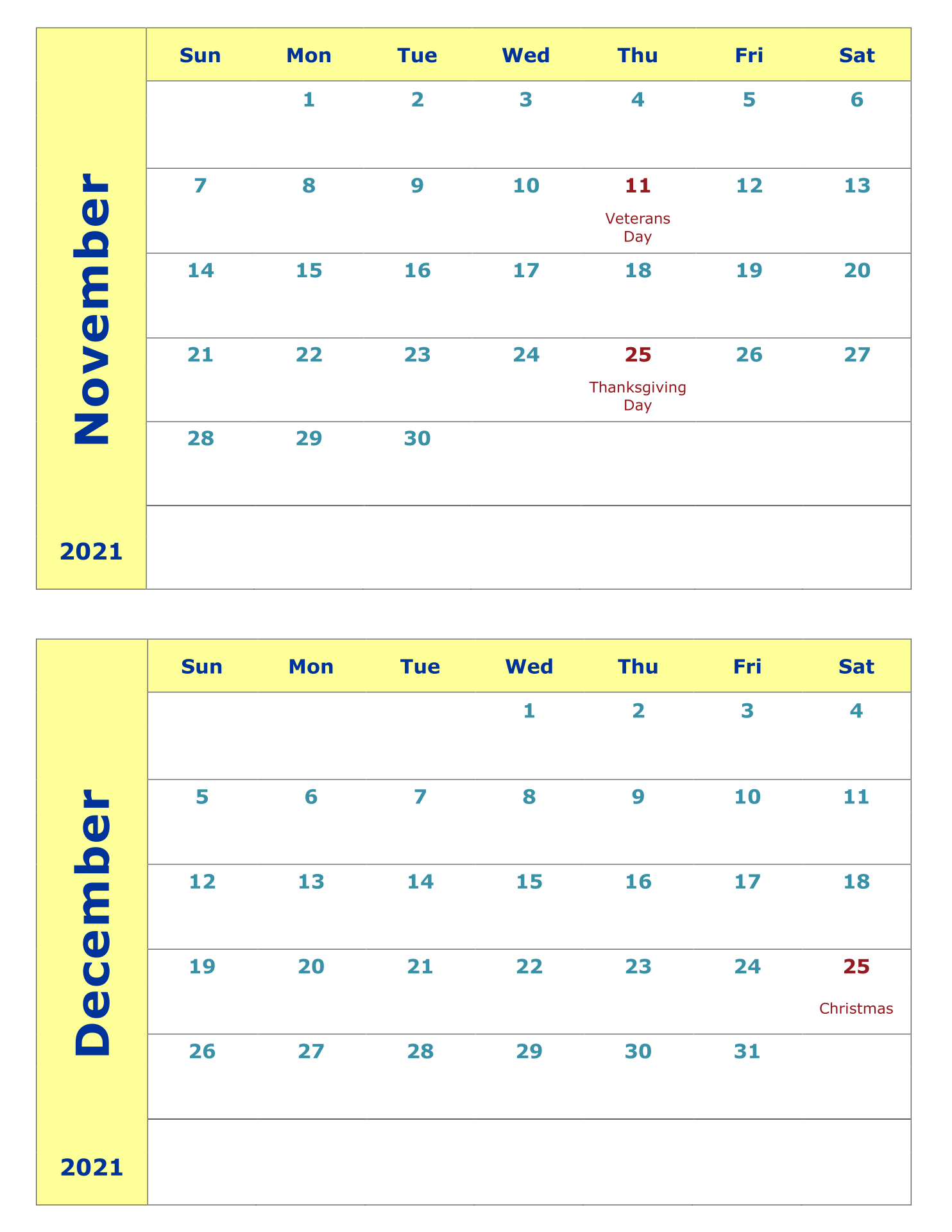 Printable Calendars 2 Months per Page