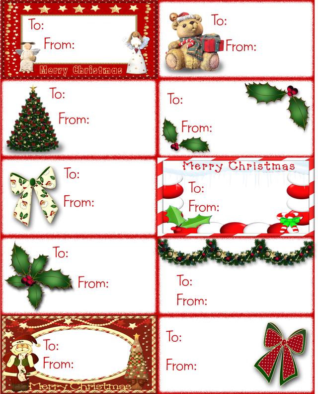 Free Printable Christmas Gift Tag Labels