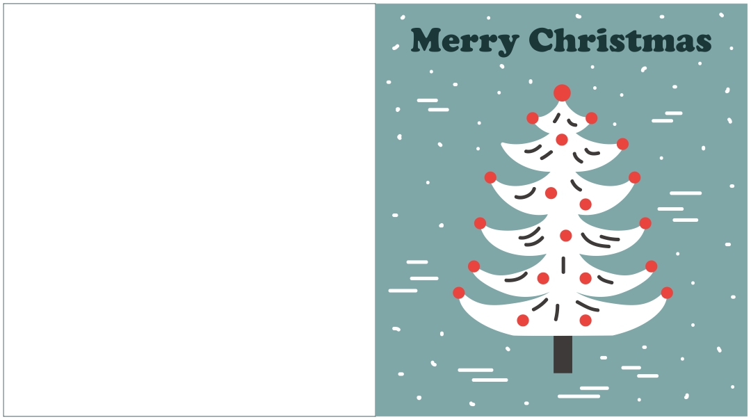 Printable Christmas Tree Holiday Cards