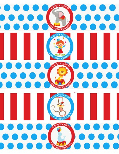 9 Images of Printable Carnival Labels