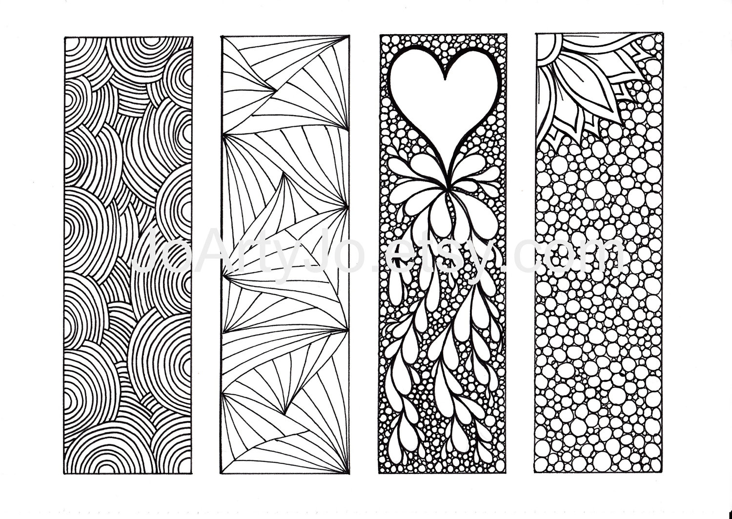 7 Images of Printable Zentangle Bookmarks Patterns