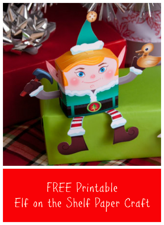 Free Printable Elf On the Shelf Craft