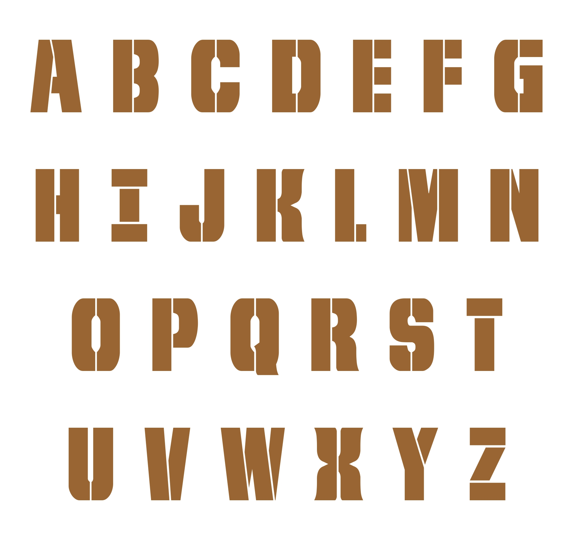 Printable Extra Large Letter Stencils