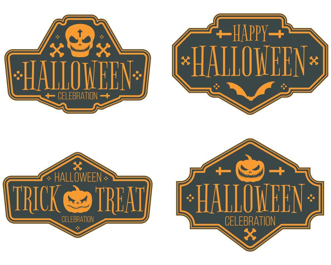 Printable Halloween Tags Vintage