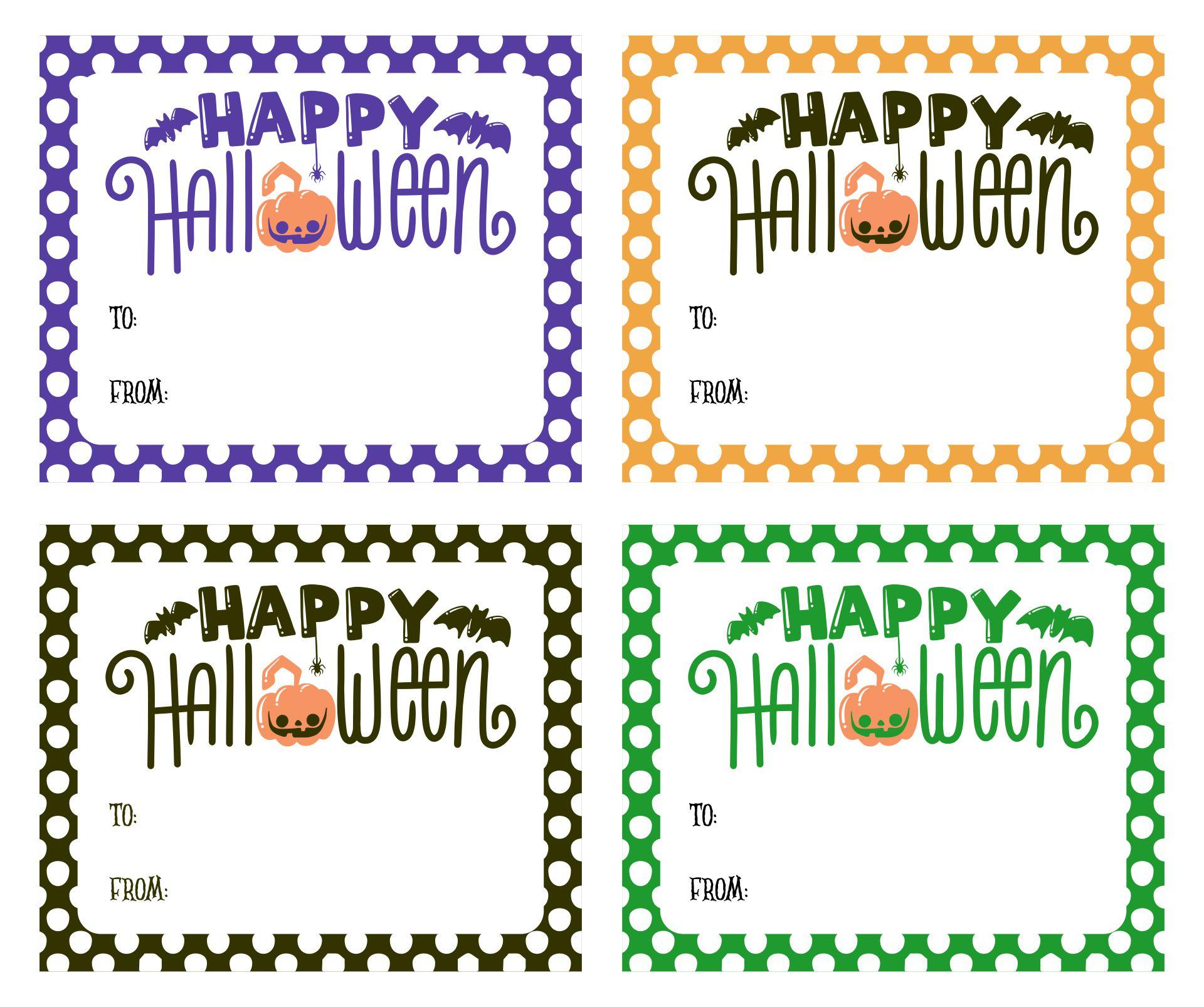 Printable Halloween Treat Bag Tag