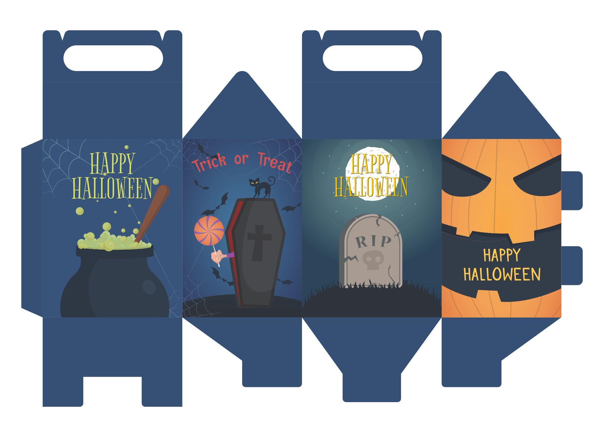 8 Images of Halloween Bag Printables