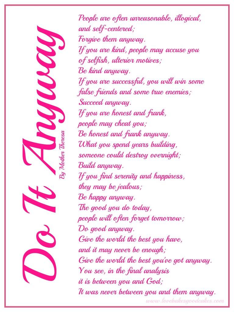 Printable Inspirational Poems