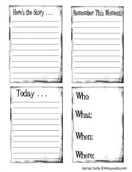 4 Images of Printable Journaling Cards Inspiration