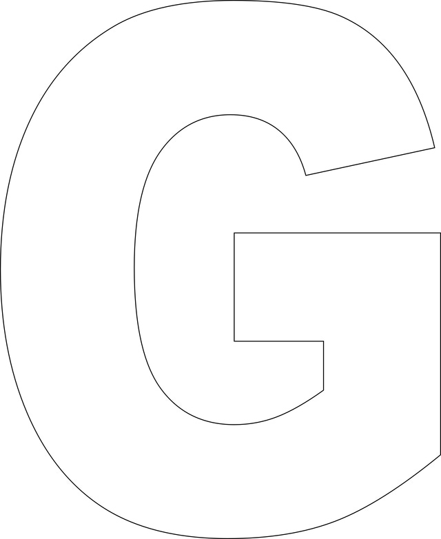 6 Images of Printable Large Size Alphabet Letter G