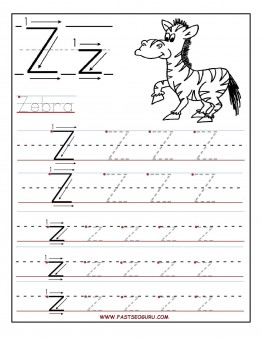 Free Printable Letter Z Worksheets