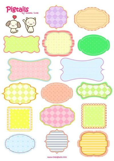 Free Printable Scrapbook Tags and Labels