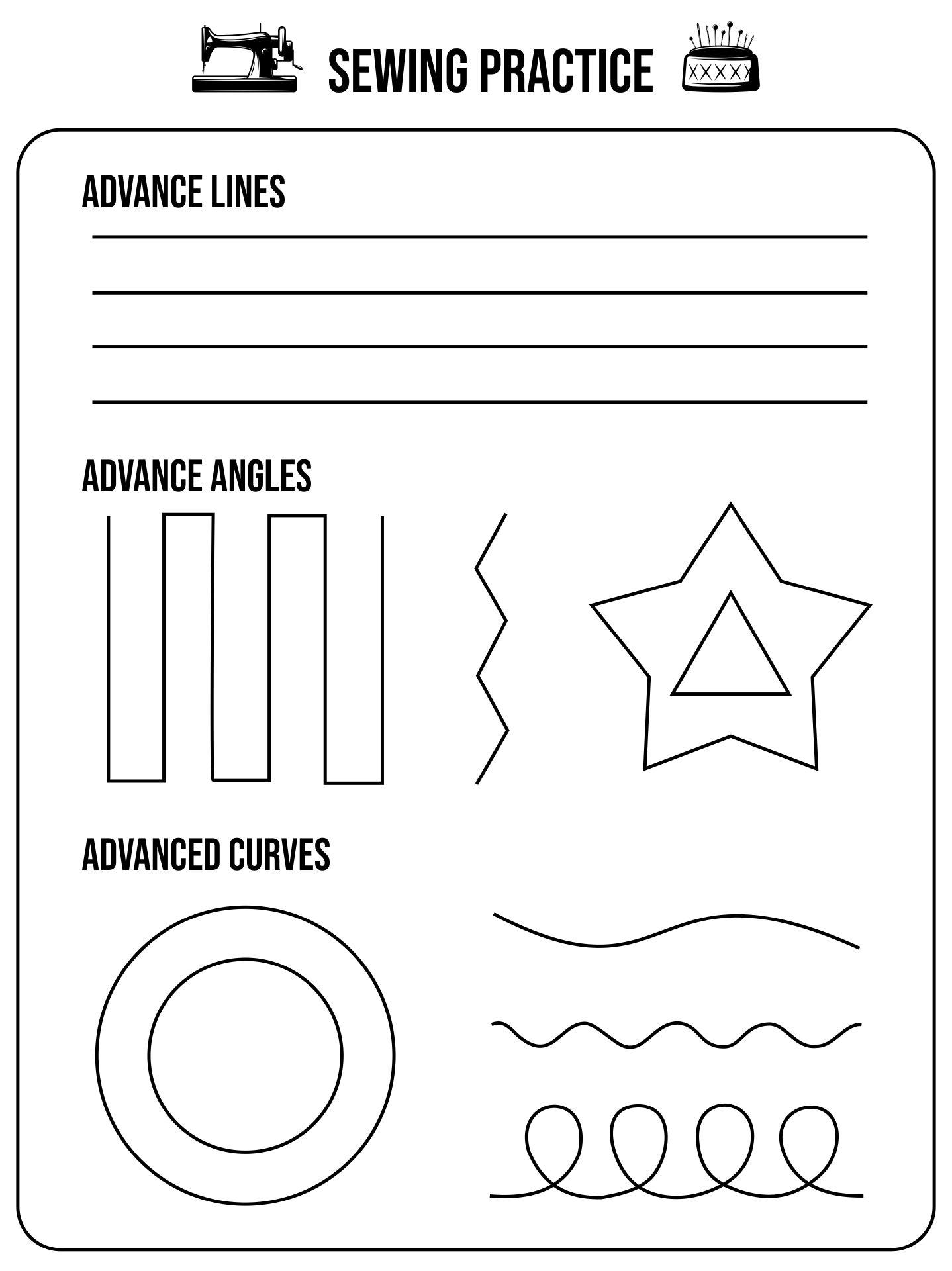Printable Sewing Sheets