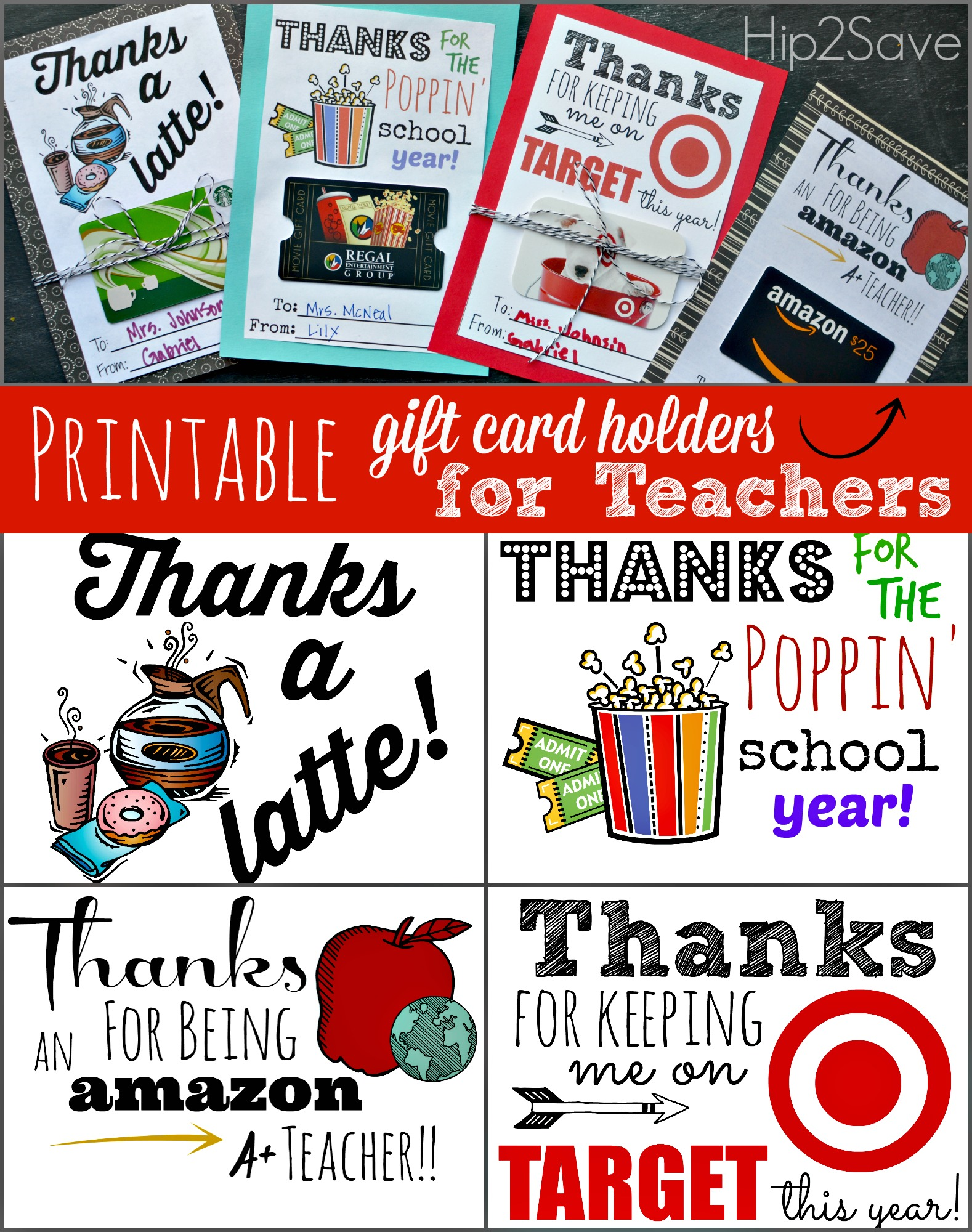 5 Images of Printable Teacher Appreciation Gift Card Holders