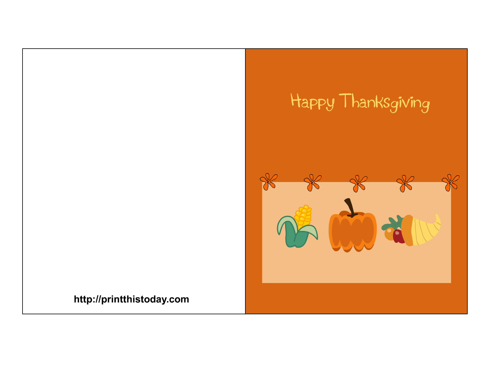 8 Images of Happy Thanksgiving Free Printable Cards