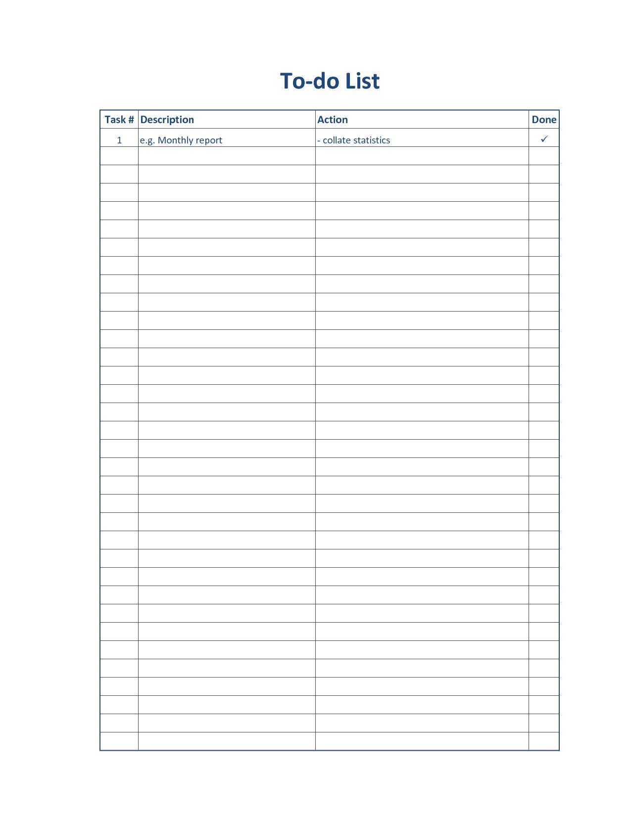 5 best images of printable task list forms blank to do list printable blank printable to do. Black Bedroom Furniture Sets. Home Design Ideas