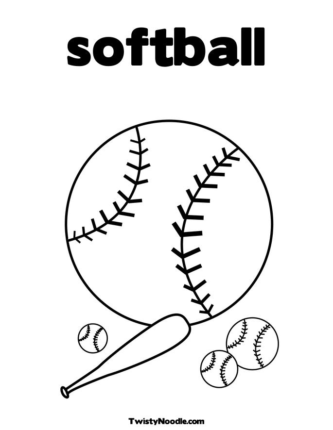 4 Images of Softball Player Coloring Pages Printable