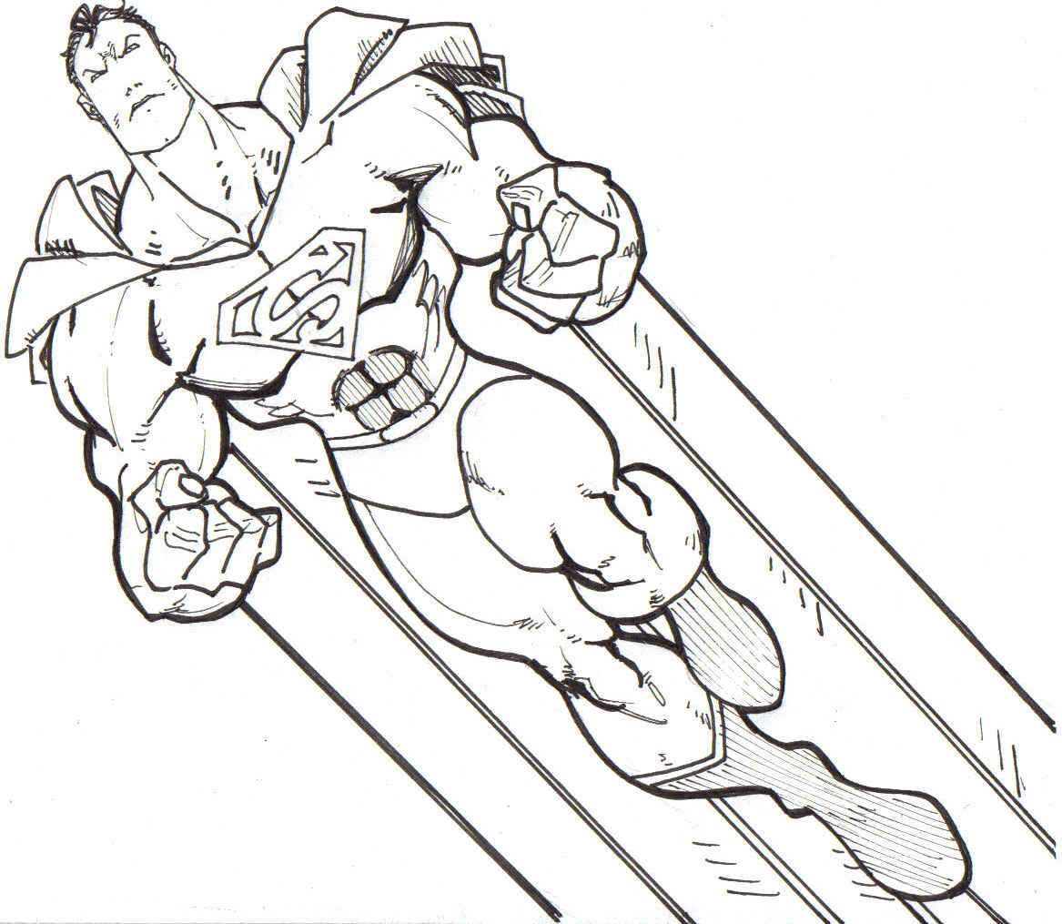 4 Images of Superman Coloring Pages Printable