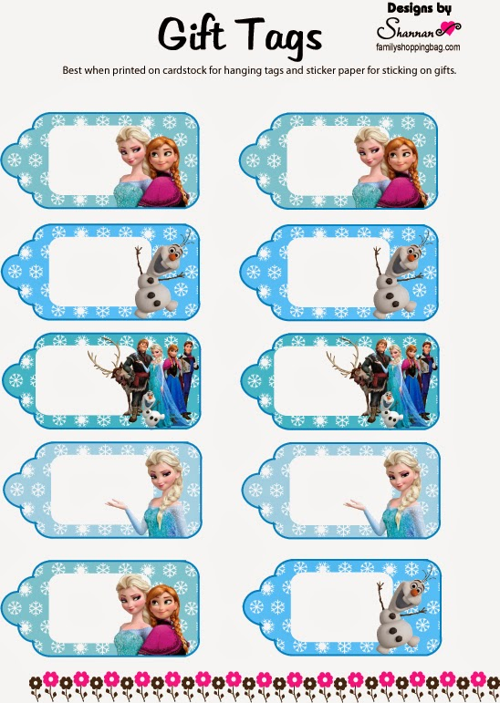 9 Images of Disney Frozen Birthday Printable Gift Tags