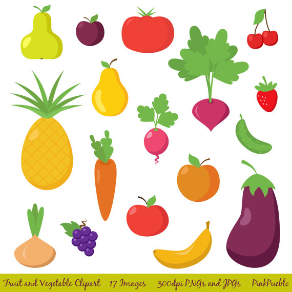6 Images of Printable Vegetable Clip Art