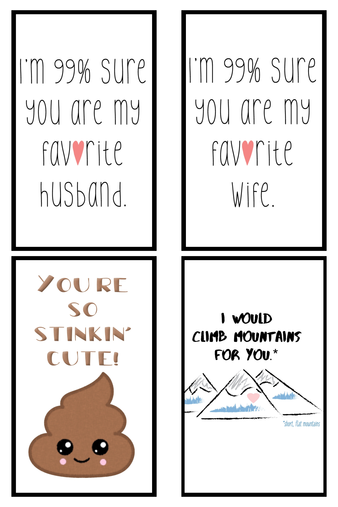 Funny Valentine's Day Cards Printable