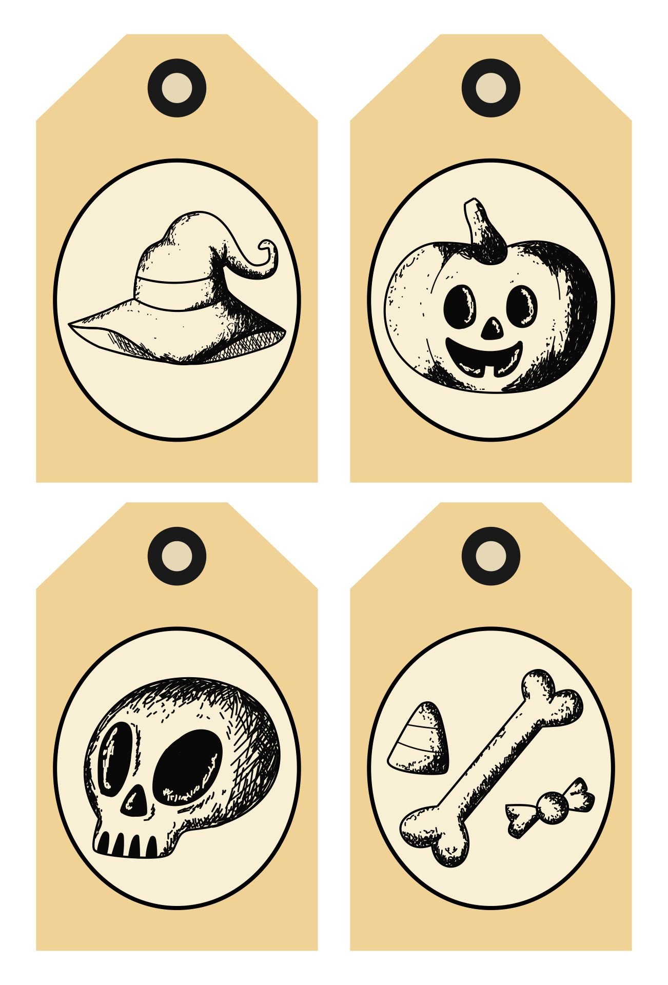 Gothic Victorian Printable Tags