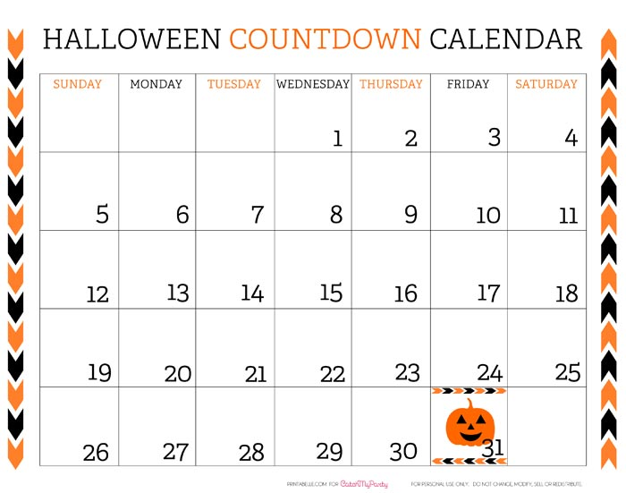 6 Images of Printable Countdown Calendar 2014