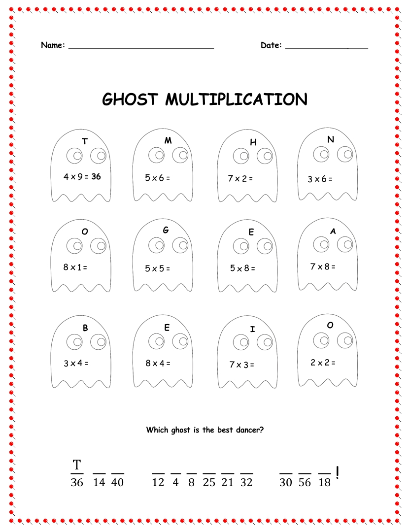math worksheet : halloween printable images gallery category page 1  printablee  : Halloween Math Worksheets 4th Grade