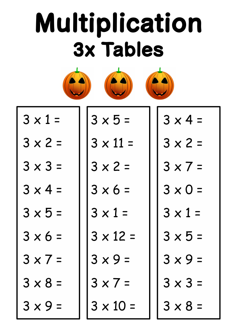 Halloween Math Worksheets Multiplication