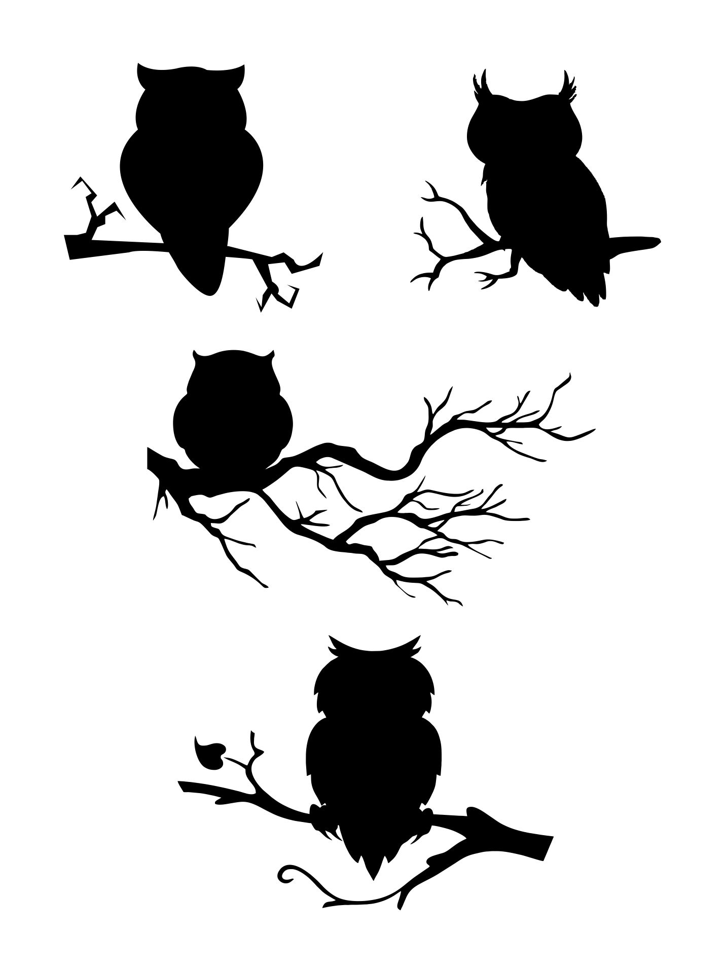 Halloween Owl Silhouette Clip Art
