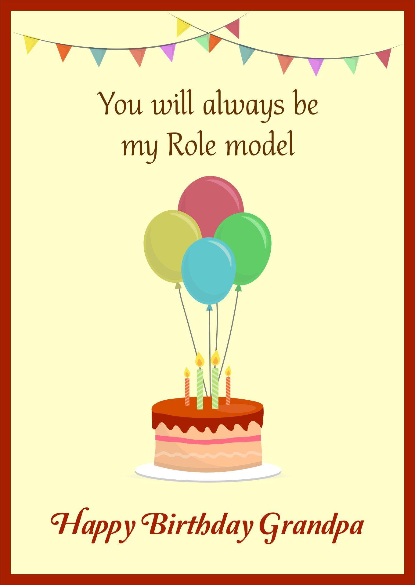 Happy Birthday Grandpa Printable Cards