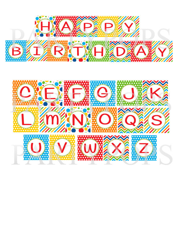 birthday banner letters