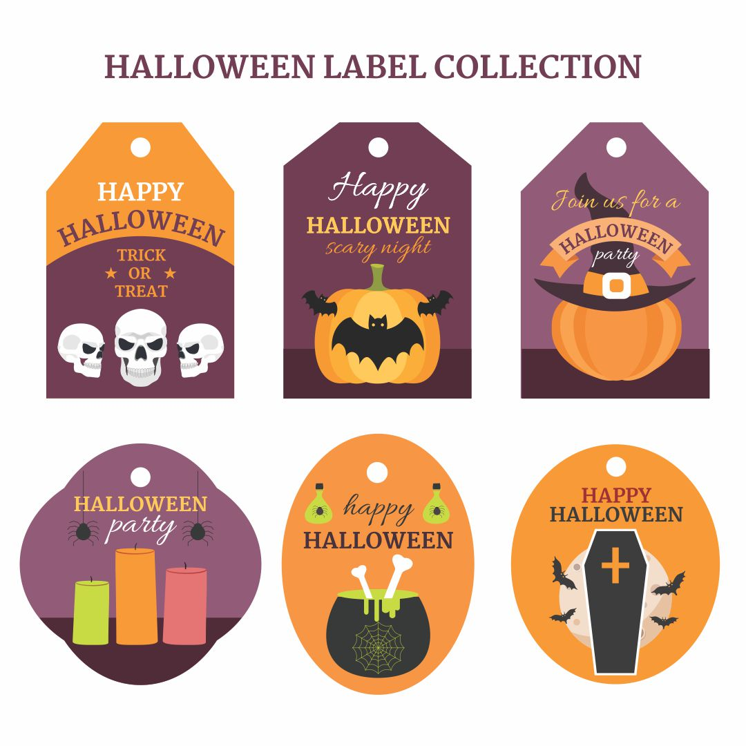 8 Images of Tags Free Printables Halloween