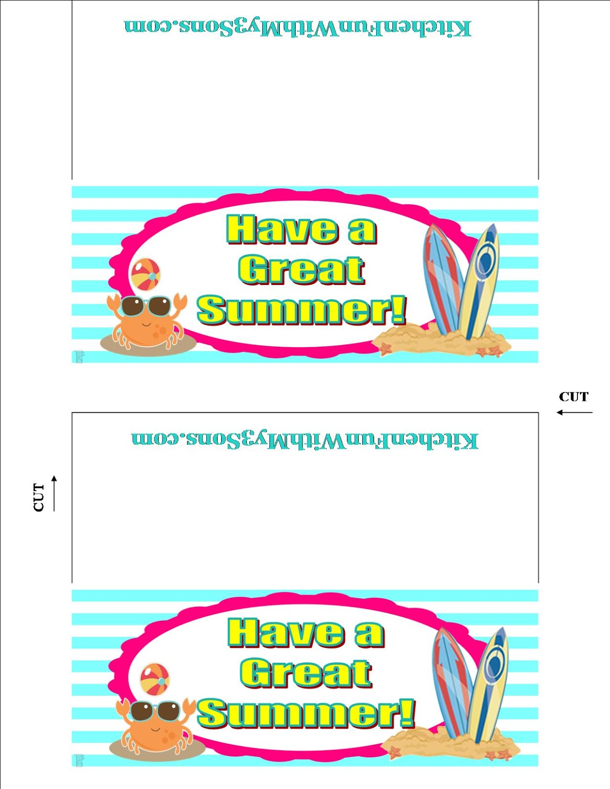 6 Images of Have A Great Summer Printable